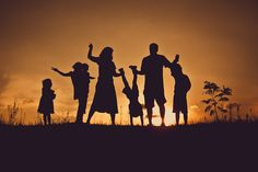 Photography Silhouette Family Fun