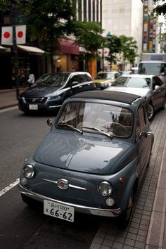 A Grey Fiat 500C, probably my next car!