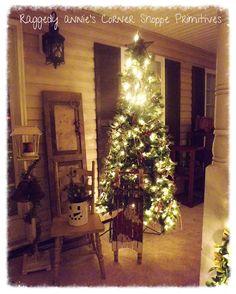 Prim Christmas porch