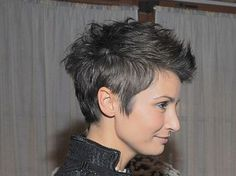Spiky short hair
