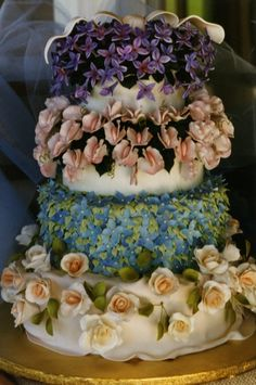 tiered cakes, cabin ridg, flower cakes, cabins, bouquets, wedding cakes, cakesdecor idea, beauty, cake designs