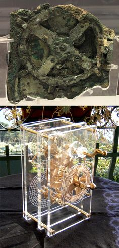 The Antikythera mechanism is an ancient mechanical computer designed to calculate astronomical positions. It was recovered in 1900–1901 from the Antikythera wreck. However, its significance and complexity were not understood until decades later. The construction has been dated to the early 1st century BCE. Technological artifacts of similar complexity and workmanship did not reappear until the 14th century, when mechanical astronomical clocks were built in Europe. modern reconstruction at bottom