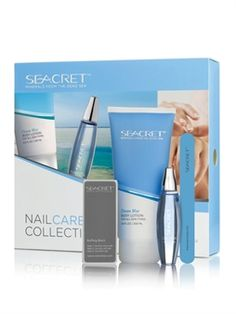 Seacret Dead Sea products presents a special, easy way to care for your nails, including a custom-designed nail care buffing block, nail file, a nourishing cuticle oil, and our own Dead Sea Minerals rich body lotion. SEACRET's Nail Care Collection was designed for professional nail care; smooth and perfect polish for natural healthy-looking, shiny nails. Great gift idea.