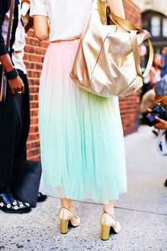 pastel ombre skirt