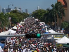 Calle Ocho Festival - Little Havana - Miami, Florida.