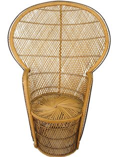 One Kings Lane - VMF - Furniture - Drum-Base Wicker Chair- have 2 I will redo