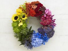 Flower color wheel