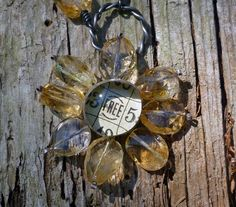 Citrine Flower Necklace by CindyDean on Etsy, $50.00 necklac, flower
