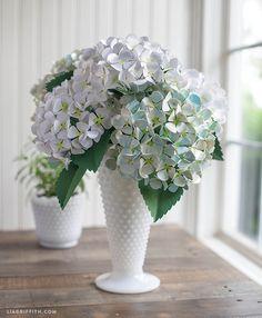 How to Make Paper Hydrangeas