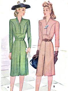 1940s Dress Pattern McCall 5770 Surplice Bodice by paneenjerez, $16.00