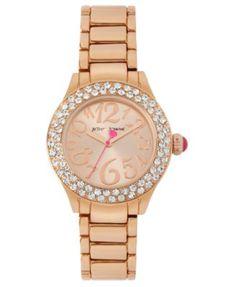 Betsey Johnson Watch, Women's Rose Gold Tone Bracelet 36mm BJ00191-03