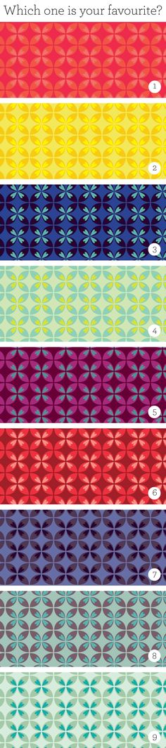Pattern, color variations!