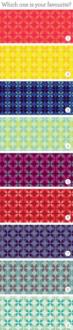 Pattern, color variations!