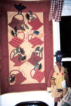 cheri quilt, summer basket, small quilt