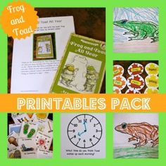 Frog and Toad All Year Printables Pack by Creekside Learning