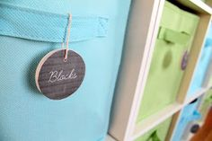 Faux Chalkboard Medallion Labels