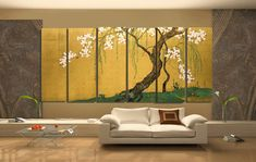 Sakai Hoitsu  Maples and Cherry Trees. Japanese by CredoArt