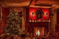 A Christmas scene th