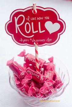 'I Like You How Roll' Valentine Tags