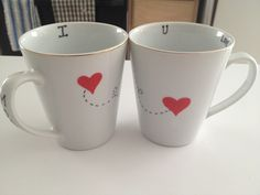 Dollar Tree mugs+ Sharpie= Valentine's Day gift idea! It works... I made these this morning! Tested and approved!