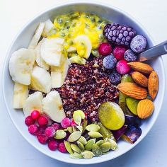 Eat Colorfully. morning quinoa bowl