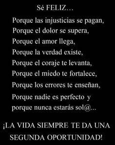 Spanish quote- se Feliz