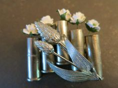 Military Boutonniere with Shotgun Shells Bullet by TheRitzyRose, $100.00 Military Boutonnieres