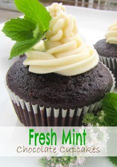Fresh Mint Chocolate #Cupcakes