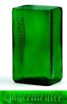 recycled jagermeister bottle vase. I have plenty of empty bottles laying around.
