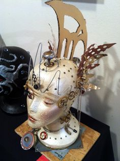 styrofoam head painting   ... heads many other artists did creative things with styrofoam heads it