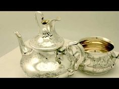 Video ... Sterling Silver Three Piece Tea Service - Antique Victorian - AC Silver W6513