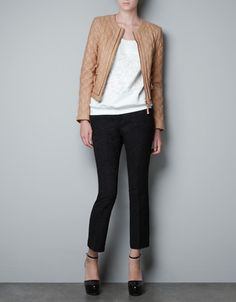 $189 QUILTED LEATHER JACKET - Blazers - Woman - ZARA United States
