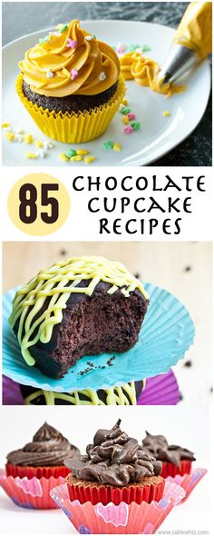 OVER 85 delicious chocolate cupcake recipes to make you drool! Yum!