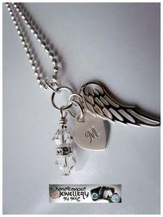 Monogram angel pendant - $46.20
