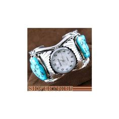 Native American Jewelry | Turquoise Jewelry | Navajo Watch Cuff found on silvertribe