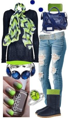 Seahawks outfit-love the scarf