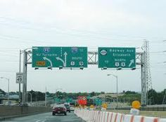 Interstate and New Jersey Turnpike.  Had a very uncomfortable visit here one time.