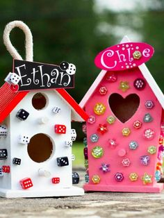 Create cute birdhouses for the kids to decorate and hang in the backyard this summer.
