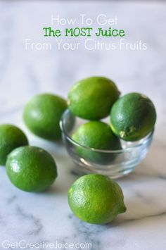 How to get the most juice from your citrus fruits - tips and tricks!