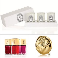 la laqu, nail polish, laqu trio, yves saint laurent, holiday set, laurent la, gifts, holidays, nails