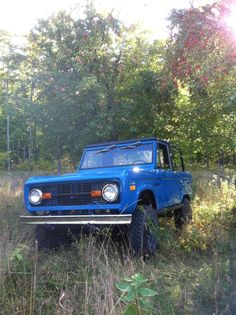 Fighting the grass in a True Blue Early Bronco.  Not much in life better than that!
