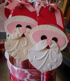 Close up of Santa M&M stick