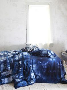 Organic cotton duvet hand dyed in Indigo Itajime via Upstate. Gorgeous.