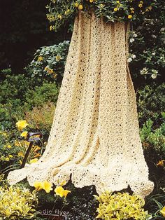 Vintage Lace Afghan II , Vintage Lace Afghan II  Afghans  Bring warmth and elegance to your favorite retreat with this enchanting throw created in the simple mile-a-minute style. Easy-care worsted yarn and join-as-you-go panels make a terrific combination.