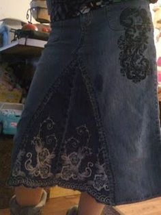 Upcycle Jeans into Skirts...(=