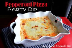 Pepperoni Pizza Party Dip from Jamie Cooks It Up!