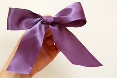 tie a perfect bow!