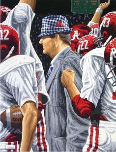 """Coach """"Bear"""" Bryant.  I really want this painting."""