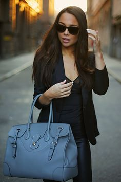 Bag: RALPH LAUREN // Sunglasses: GIVENCHY