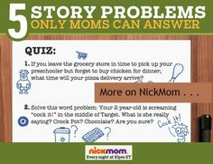 Word Problems Only a Mom Can Solve | Humor for Moms | Nicole Leigh Shaw on NickMom